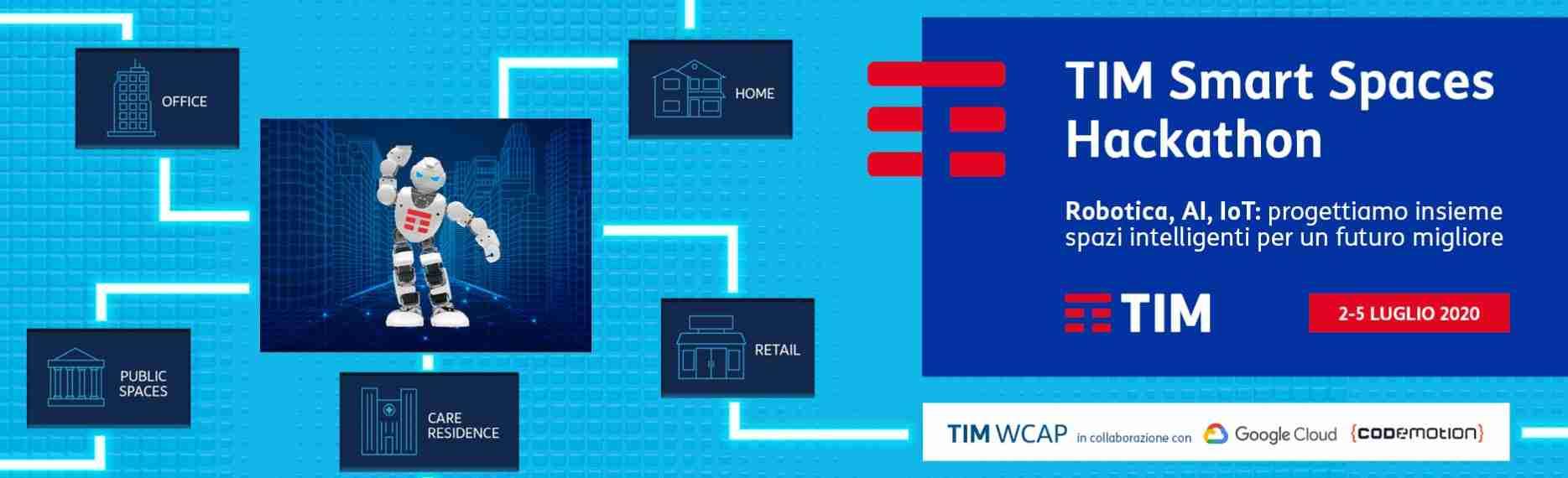 TIM: lancia 'Smart  Spaces  Hackathon', la maratona  dell'ecosistema dell'innovazione per progettare i nuovi spazi intelligenti