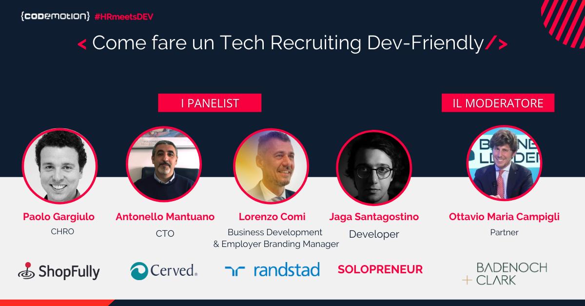 Come fare un Tech Recruiting Dev-Friendly